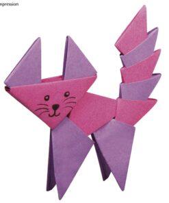 Origami Faltpapier Katze