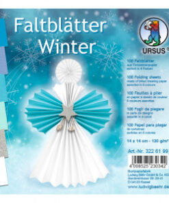 Ursus Faltblätter Winter, 14x14 cm