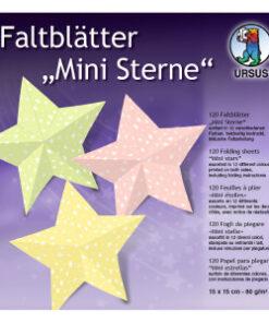 Ursus Faltblätter Mini-Sterne, 15 x 15 cm