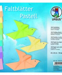 Ursus Faltblätter Pastell, 20 x 20 cm