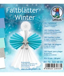 Ursus Faltblätter Winter, 10 x 10 cm