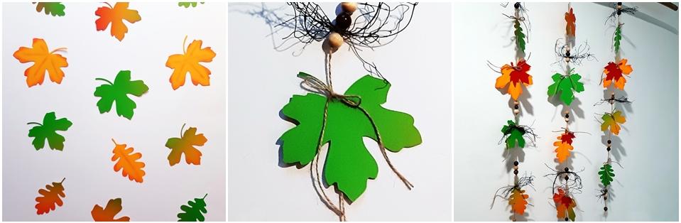 Blätter für Blätterketten aus Bastelpapier