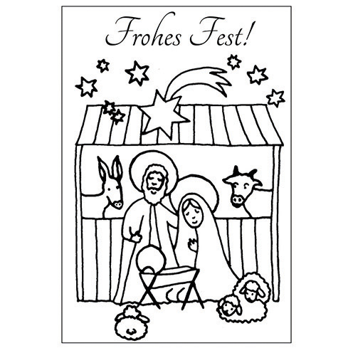 Stempel Clear Frohes Fest