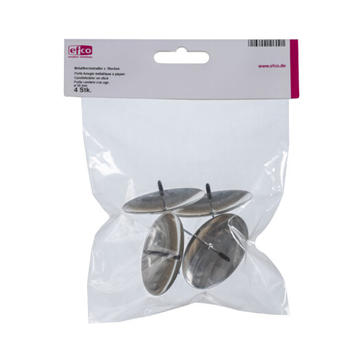 Metall-Kerzenhalter, silber, Ø 50 mm