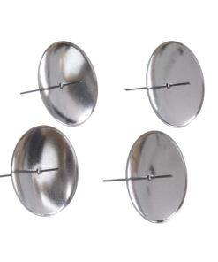 Metall-Kerzenhalter, silber, Ø 60 mm