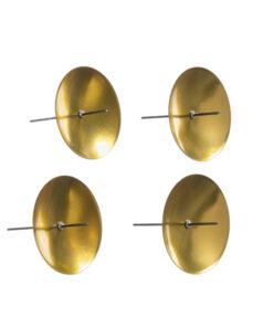 Metallkerzenhalter zum Stecken, gold