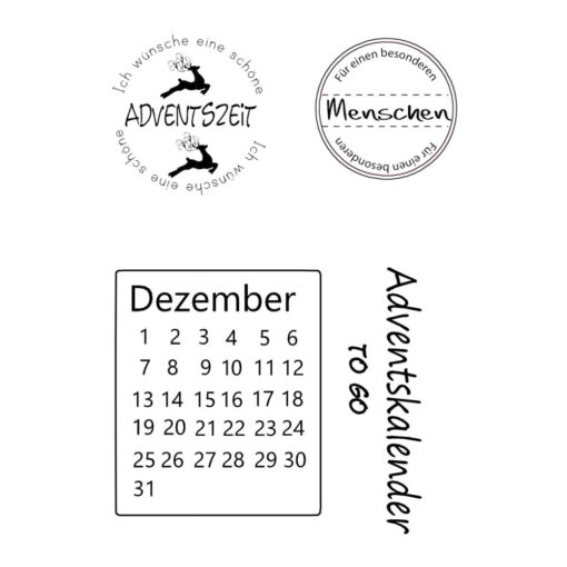 Stempel Clear Advent