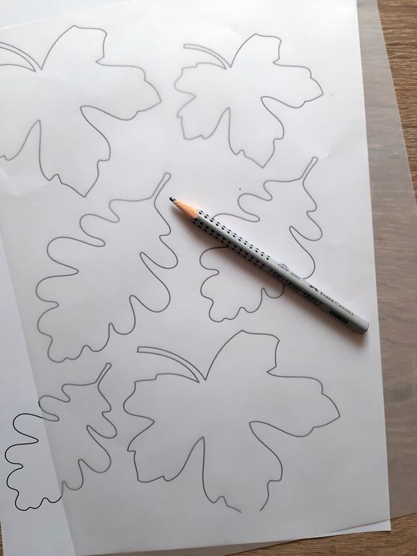Vorlagebogen für die Blätterketten