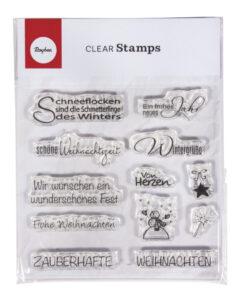 Rayher Clear Stamp Motive Weihnachten