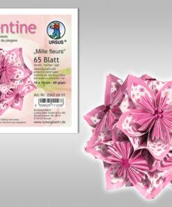Ursus Faltblätter Florentine, Mille fleurs rosa