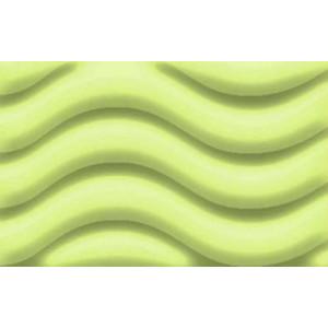 Runde Laterne aus W-Welle, apfelgrün
