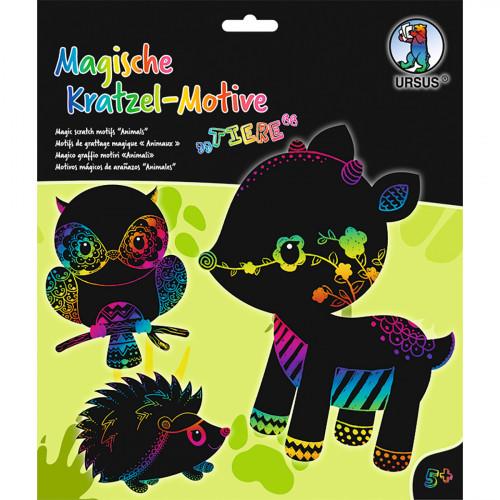 Ursus Magische Kratzel-Bilder Tiere