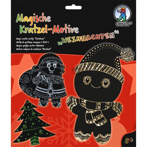 Ursus Magische Kratzel-Bilder Weihnachten