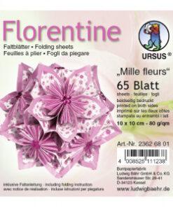 Ursus Faltblätter Florentine Millefleurs, 15x15 cm