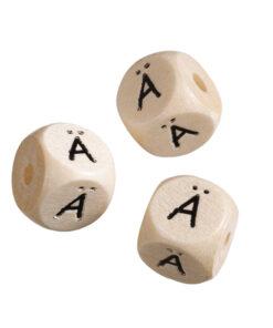 Holz-Buchstabenwürfel Ä, für Schnullerketten