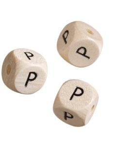 Holz-Buchstabenwürfel P
