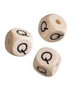 Holz-Buchstabenwürfel Q
