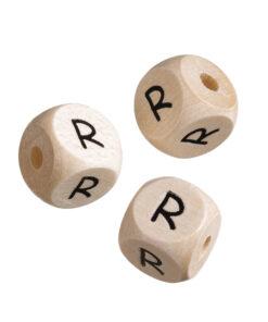Holz-Buchstabenwürfel R