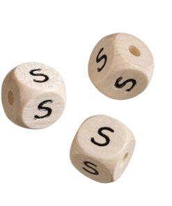 Holz-Buchstabenwürfel S