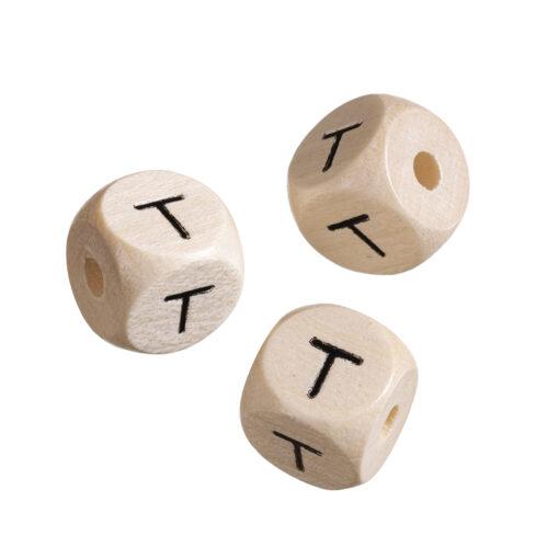 Holz-Buchstabenwürfel T