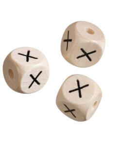 Holz-Buchstabenwürfel X