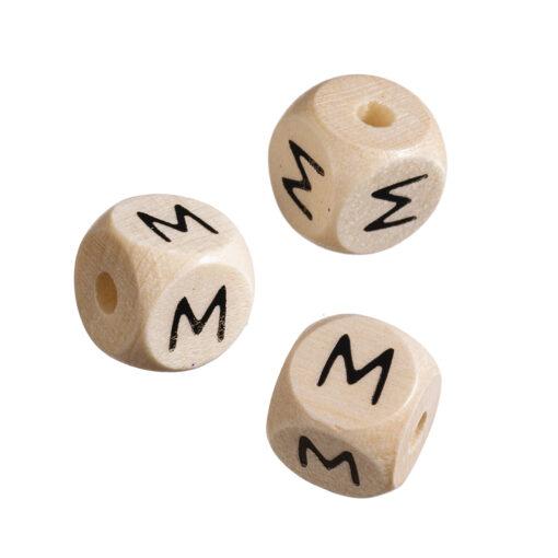 Holz-Buchstabenwürfel M