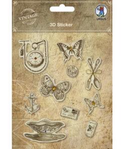 "3D-Sticker ""Vintage"" Motiv 3"