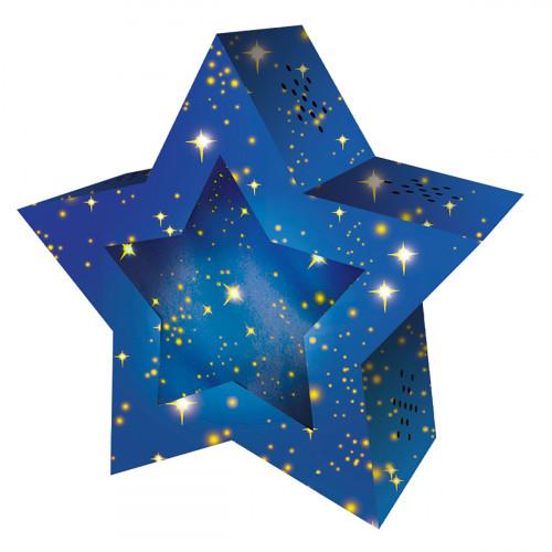 Laternen-Rohling, Bastelset Twinkle Star, Sternenhimmel
